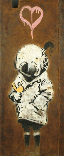 Banksy - Space Girl and Bird
