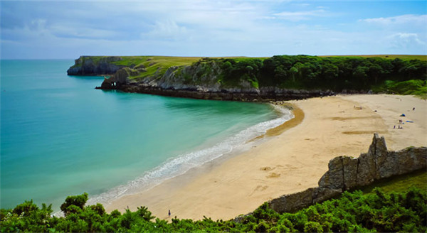 Barafundle Bay beach