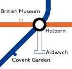 aldwych tube map location