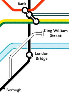 king william street location map
