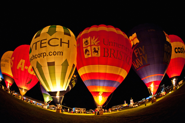 Bristol Balloon Fiesta Thursday Night